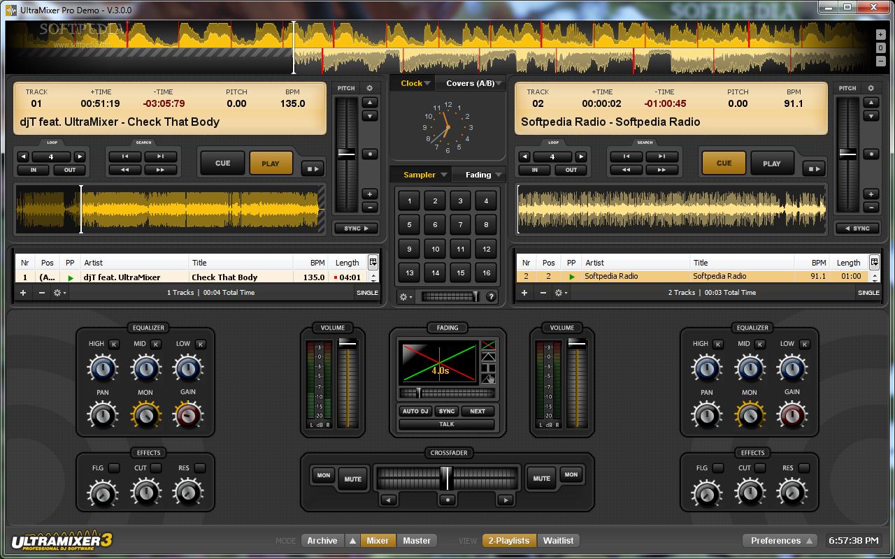 UltraMixer Professional Edition 1 UltraMixer Professional   Công cụ DJ nhạc rất cool