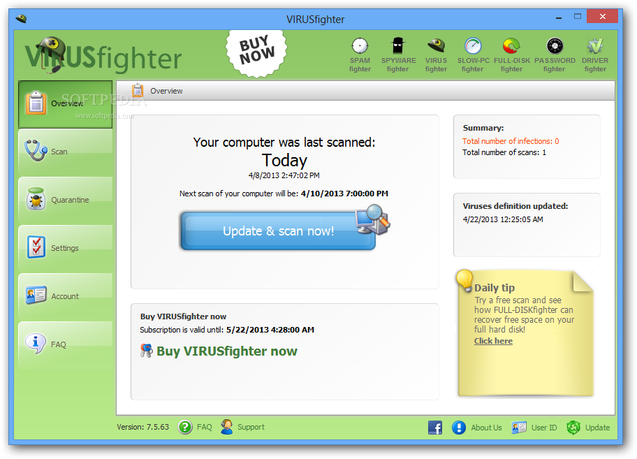 VIRUSfighter screenshot 1