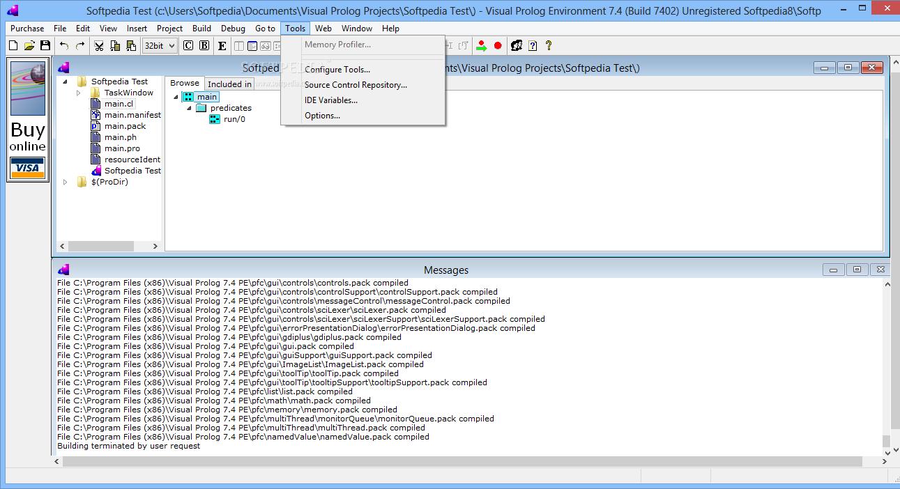 Visual Prolog imágenes, capturas de pantalla