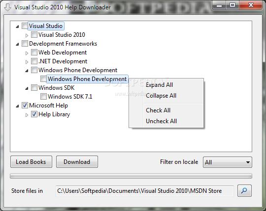 Visual Studio Help Downloader 1 برنامج تحميل الملفات Visual Studio 2010 Help Downloader 1.0.0.2