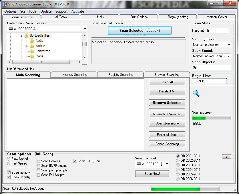 Vnd Hard Disk Scanner And Registry Scanner screenshot 1