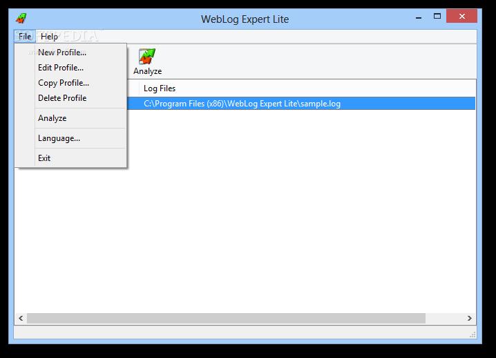 برنامج WebLog Expert Lite
