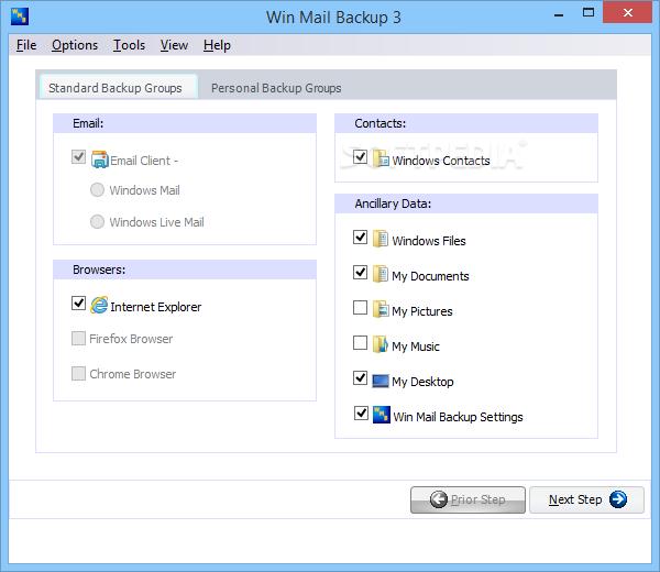 Win Mail Backup screenshot 6