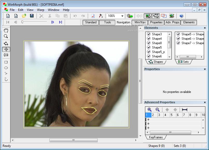 برنامج winmorph لهواة صنع المؤثرات البصرية بالصور و الفيديو النسخة الاخيرة WinMorph_1