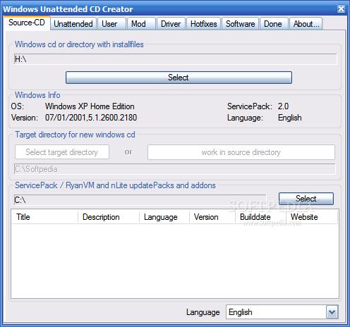 ����� Windows Unattended CD Creator �� ��� ����� ��� Windows ���� ������