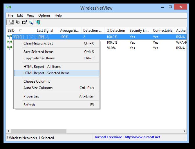 البرنامج WirelessNetView 1.12