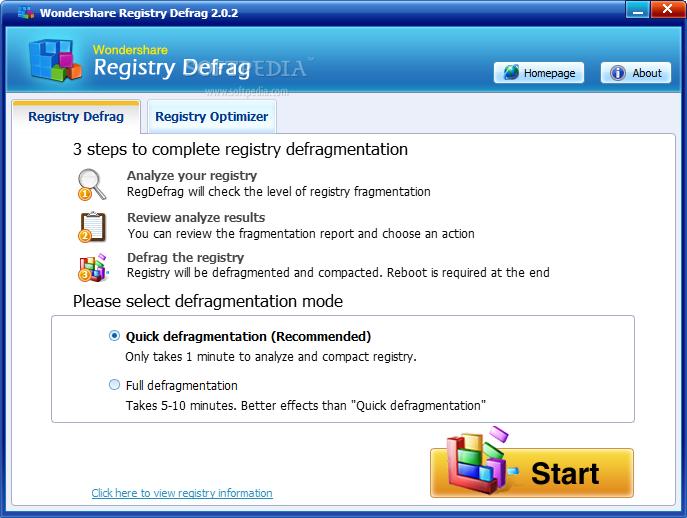 ������ Wondershare Registry Defrag ������ Wondershare-Registry-Defrag_1.png
