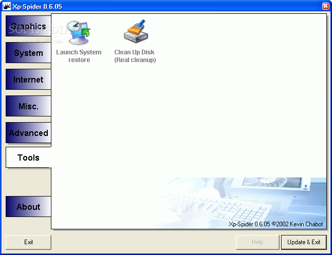 برنامج لاسترجاع النظام XPSpider_2