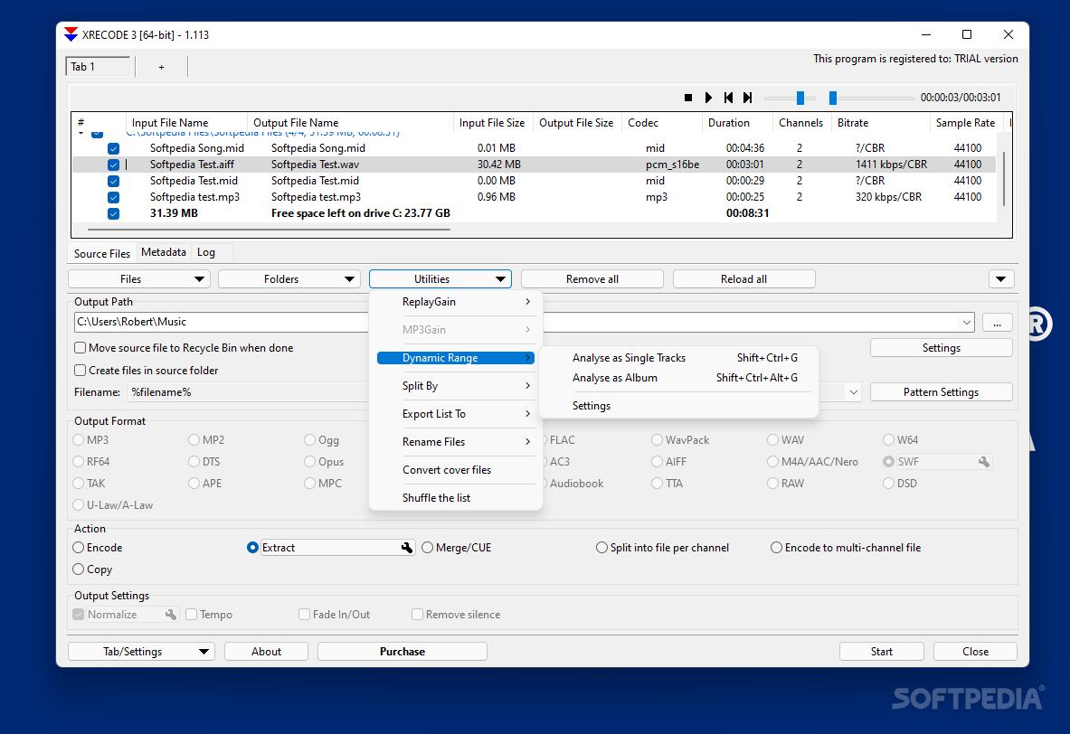 برنامج محول صوتيات xrecode 1.0.0.22