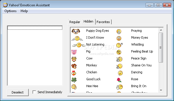 Yahoo! Emoticon Assistant Screenshot 1