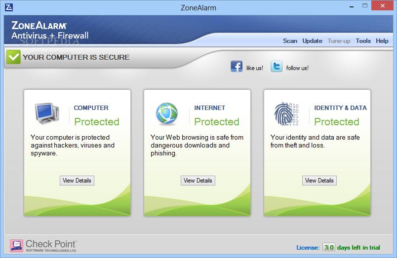 برنامج ZoneAlarm عملاق الحماية