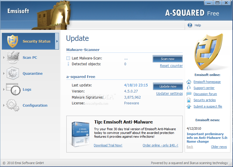 a-squared Free screenshot 1