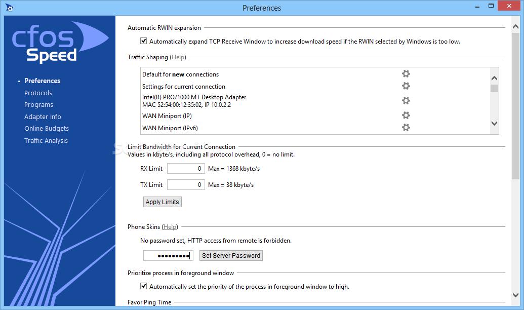 برنامج cFosSpeed 5.13 لتسريع النت