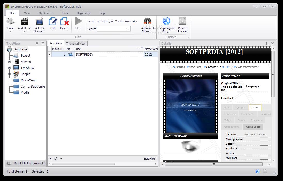 خاص بالافلام eXtreme Movie Manager 7.0.3.8