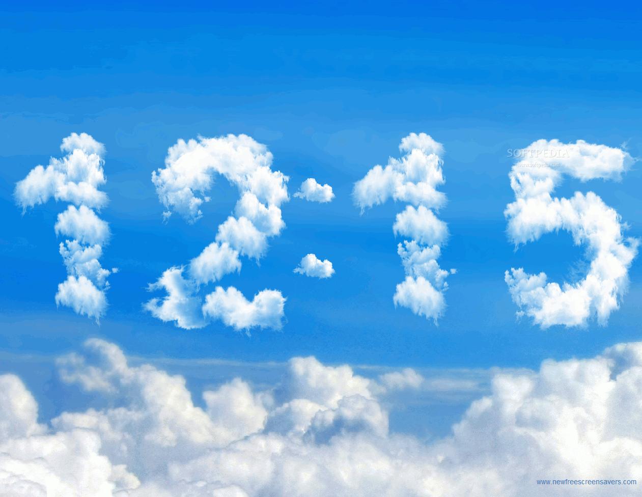 Часы облака заставка на рабочий стол 3 фотография