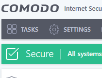 ������ ������� COMODO Internet Security